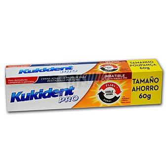 Kukident Crema adhesiva para dentaduras postizas Pro Doble Acción 60 g