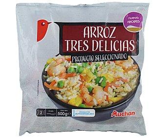Auchan Bolsa de arroz tres delicias con tortilla 500 g
