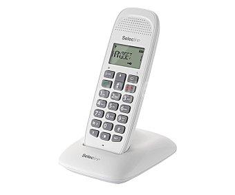 SELECLINE CALLER Teléfono inalámbrico (producto económico alcampo) Blanco, agenda 50 contactos, registro de las ultimas 20 llamadas, alcance 50m en interior y 300m en exterior,