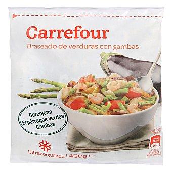Carrefour Braseado Verduras con gambas 450 g
