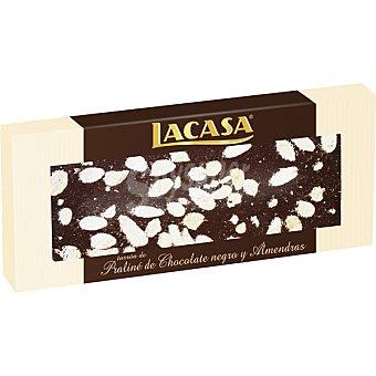 LACASA Praliné de chocolate negro y almendras tableta 250 g
