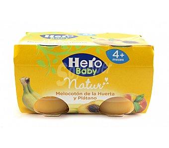 Hero Tarrito de melocotón-plátano desde 4º mes Pack 2x120 g