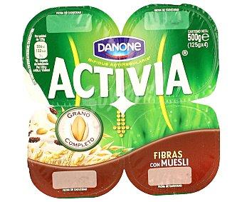 Danone activia Fibras con muesli Pack 4 x 125 grs