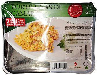 CRABSS Tortillitas de camarón congeladas Bandeja 300 g