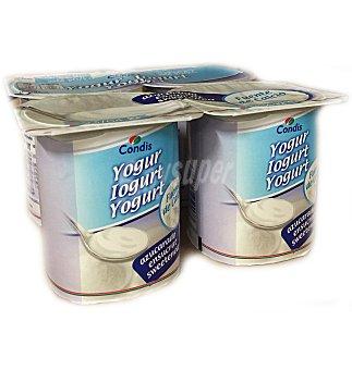 Condis Yogur natural azucarado Pack 4 uni