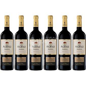 Viña Albali Vino tinto reserva D.O. Valdepeñas caja 6X5 Oferta botellas 75 cl Botellas 75 cl
