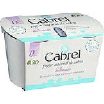 CABREL yogur natural de cabra desnatado  pack 2 envases 125 g