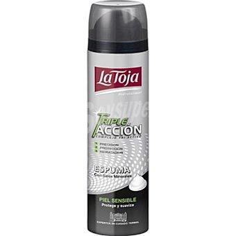 La Toja Espuma de afeitar triple acción piel sensible Hidrotermal Spray 250 ml