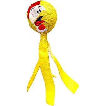 Juguete para perro modelo pollo en forma de pelota con tiras 6x23 cm 1 unidad