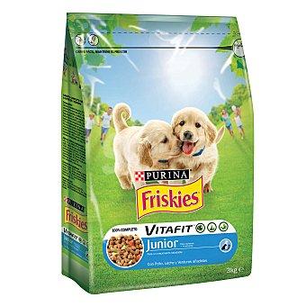 Friskies Purina Comida para perros Junior con Leche y Pollo 3 kg