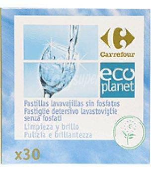 Carrefour Eco Planet Lavavajillas máquina pastillas 30 ud