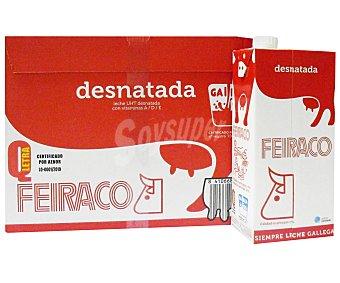 Feiraco Leche Desnatada 6 Brik de 1 Litro