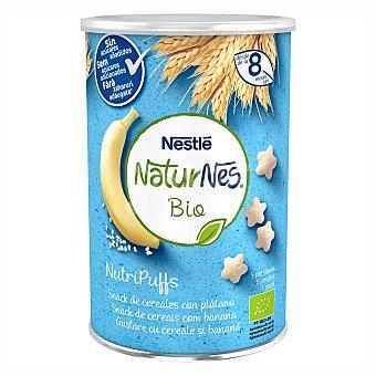 Naturnés Nestlé Nutripuffs snacks ecológicos de cereales con plátano desde 10 meses sin sal añadida 5 porciones BIO Envase 35 g