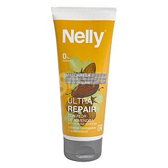 Nelly Mascarilla Ultra Repair con flor de almendra para cabellos castigados y quebradizos 100 ml