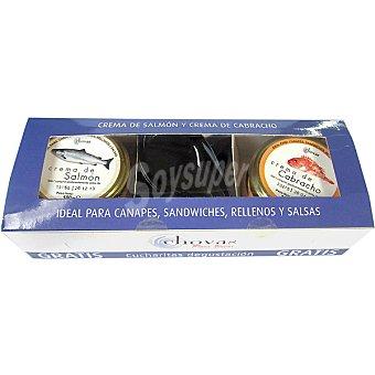 CHOVAS crema de salmón y crema de cabracho pack 2 envase 100 g