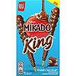 Mikado king palitos de galleta recubiertos de chocolate con leche caja 51 gr Caja 51 gr Lu
