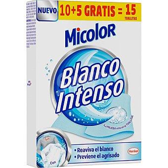 Micolor Toallitas blanco intenso reaviva el blanco caja 10 unidades Caja 10 unidades