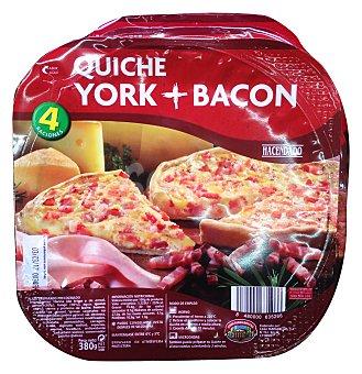 Hacendado Quiche jamon y bacon horno 4 raciones (380 g)