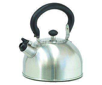 IBILI Cafetera tetera silbante de acero inoxidable, 1,5 litros 1 Unidad