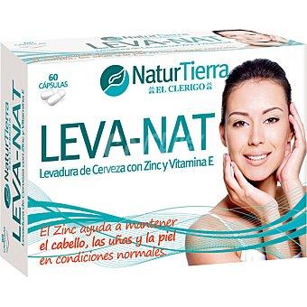 NATURTIERRA Leva-Nat Cuidado de cabello uñas y piel 60 cápsulas envase 240 g 60 c