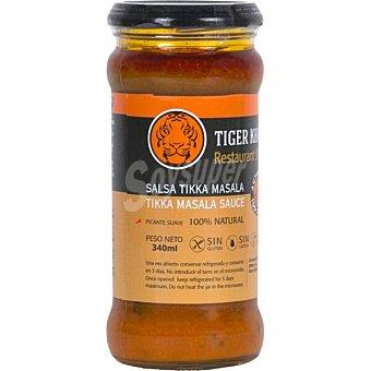 Tiger Khan Salsa Tikka Masala picante suave sin gluten y sin lactosa Frasco 340 g