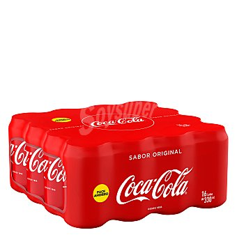 Coca-Cola Refresco de cola pack de 16x33 cl