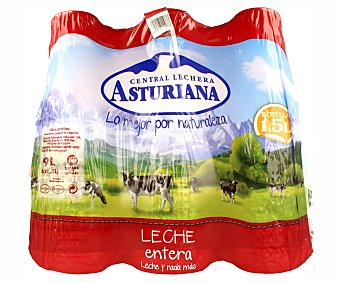 Central Lechera Asturiana Leche entera 6x1,5L