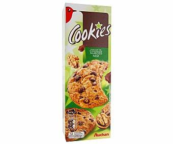 Auchan Cookies con pepitas de chocolotae y nueces 200 gramos