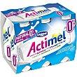 Yogur para beber natural 0% materia grasa 6 unidades de 100 ml Actimel Danone