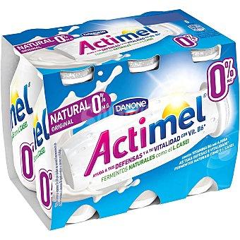Actimel Danone Yogur liquido natural 0% materia grasa pack 6 unidades 100 ml