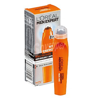 L'Oréal Crema anti-ojeras y anti-bolsas con aplicador roll-on l'oreal Hydra energetic Roll-on 10 ml