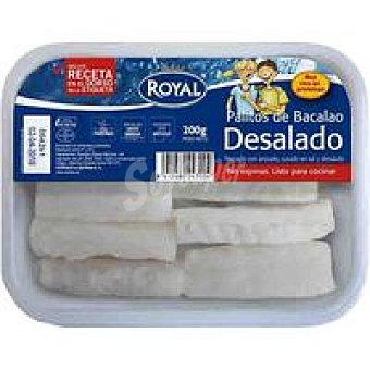 Royal Pescados Palitos bacalao desalado Bandeja 200 g