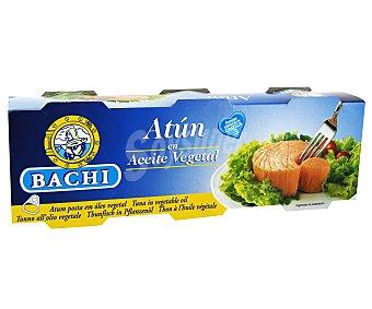 Bachi Atún en aceite vegetal Lata de 52 grs pack de 3