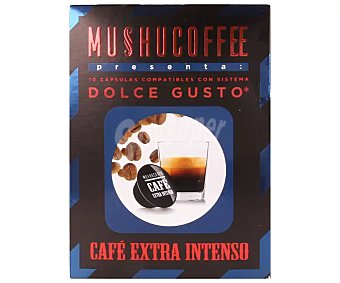 Mushucoffee Café extra intenso en cápsulas compatibles con Dolce Gusto 10 uds