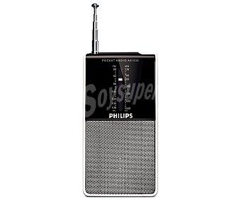 Philips Radio de bolsillo AE1530 analógica con sintonizador de radio am/fm, altavoz frontal analógica con sintonizador de radio am/fm, altavoz frontal