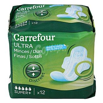Carrefour Compresa ultra fina con alas super 12 ud