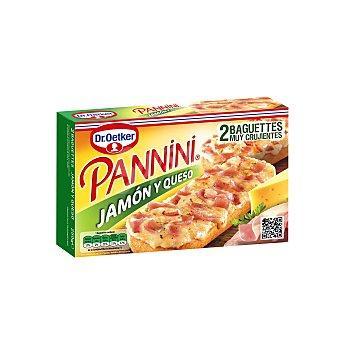 Dr. Oetker Panninis de jamón y queso 2 x 125 g