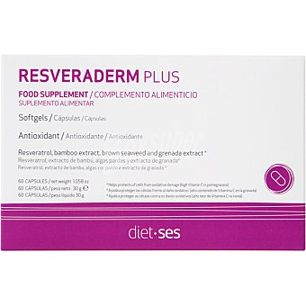 Sesderma Resveraderm Plus antioxidante indicado para retrasar el ritmo del envejecimiento caja 60 capsulas 60 capsulas