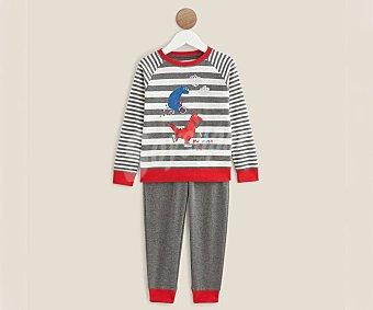 In Extenso Pijama largo para niña velour, talla 14 velour, talla 14.