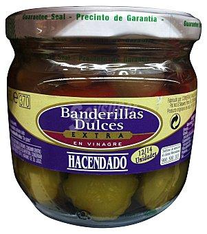 Hacendado Banderillas dulces vinagre Tarro 330 g escurrido