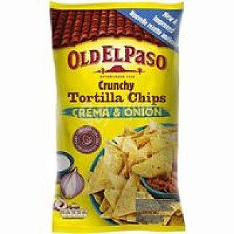 Old El Paso Chips tortilla sour cream&onion Bolsa 185 g