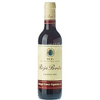 Bordón Vino Tinto Crianza Rioja Botellín 37,5 cl