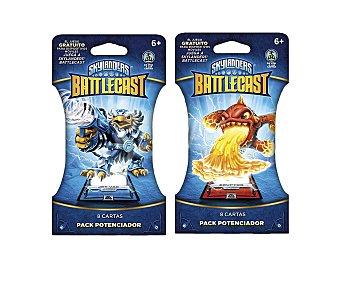 Skylanders Pack potenciador con 8 cartas para juego Battlecast 1 unidad