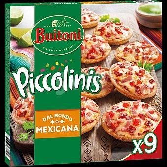 Buitoni Piccolinis Mexicana mini pizzas de jamón y pepperoni 9 unidades Estuche 270 g