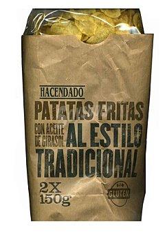 Hacendado Patatas fritas lisas tradicionales 300 g (en 2 paquetes)
