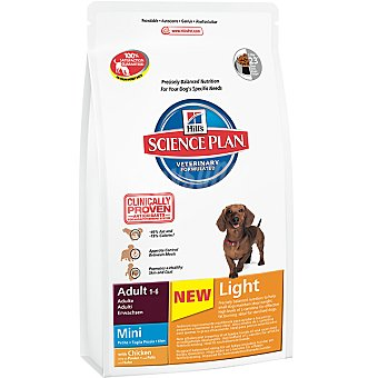 HILL'S SCIENCE PLAN ADULT MINI Light Alimento especial para perros adultos de raza mini con pollo y menos grasa Bolsa 2,5 kg