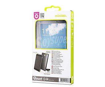MUVIT Carcasa trasera Minigel, trasparente, compatible con LG G4. (teléfono no incluido) 1 unidad