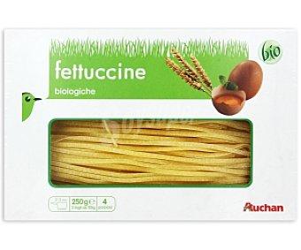 AUCHAN Pasta al huevo Fettuccine Biológico 250 Gramos