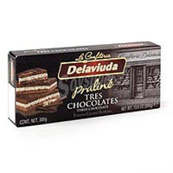 Delaviuda Turrón 3 chocolates delaviuda Caja 200 g