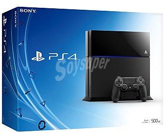 Sony Cónsola Playstation 4 color negro, disco duro de 500Gb. Incluye mando inalámbrico dualshock 4 1 Unidad